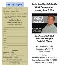 Fox & Weeks supports Dustin Dauphinee Scholarship Golf Tournament