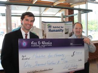Fox & Weeks presents York Children's Foundation grant to Coastal Empire Habitat for Humanity Restore
