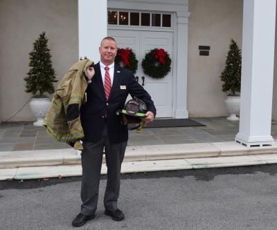 Fox & Weeks funeral assistant Jeff Mills is Volunteer Firefighter of the Year