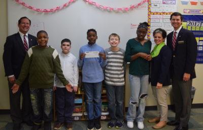 Fox & Weeks presents Matthews Children's Foundation grants  to three area children's charities
